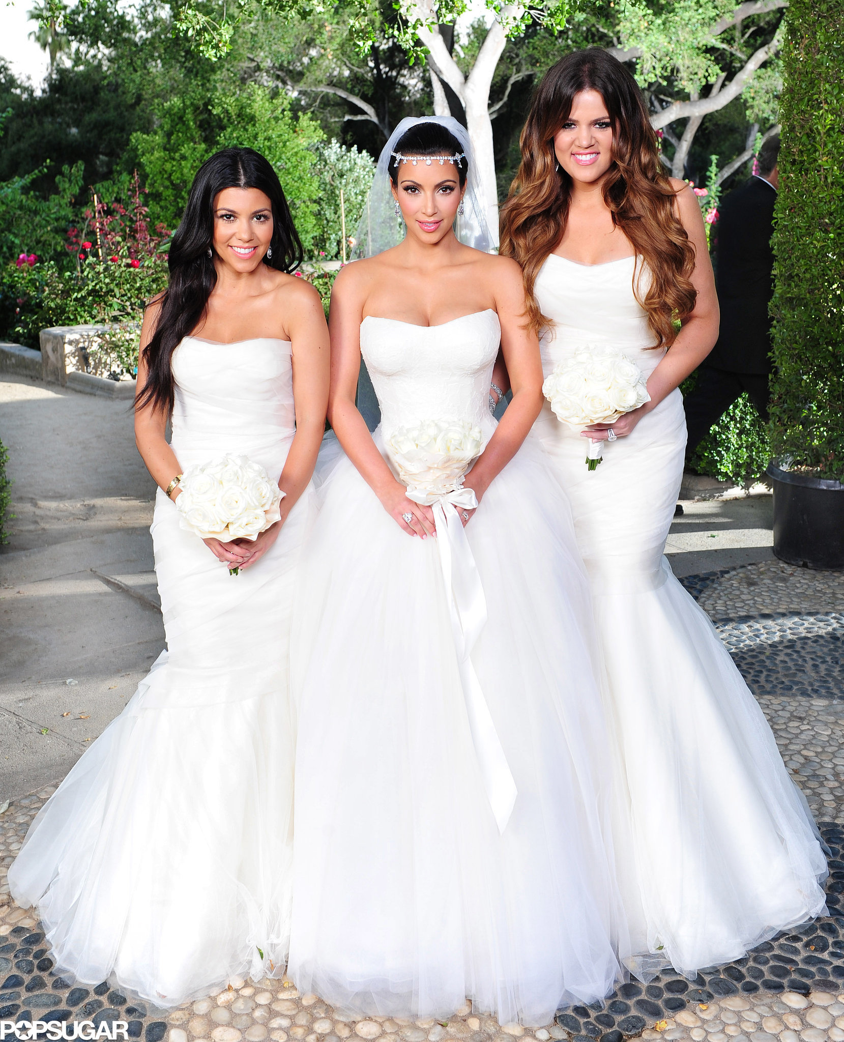 Kim-decked-her-bridesmaids-sisters-Khloé-Kourtney